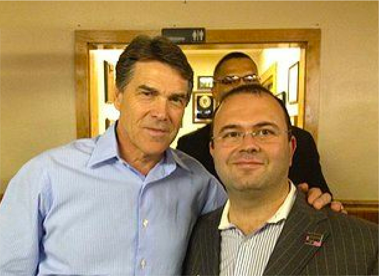 Governor of Texas Rick Perry with David P Ellent, MD