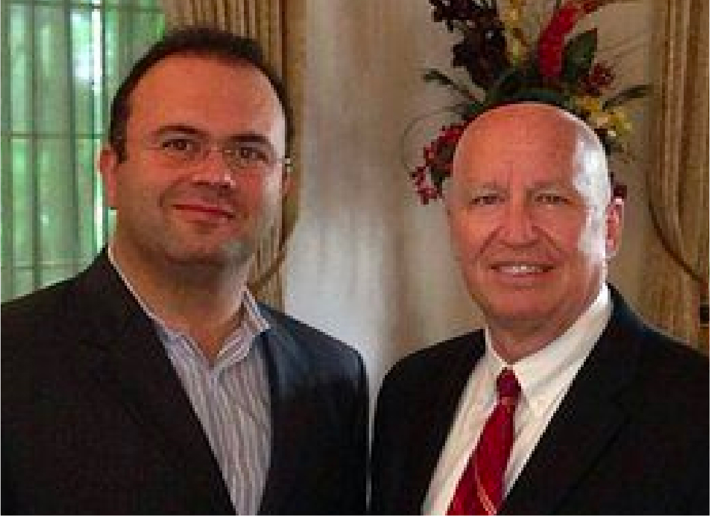 US Representative Kevin Brady with David P Ellent, MD
