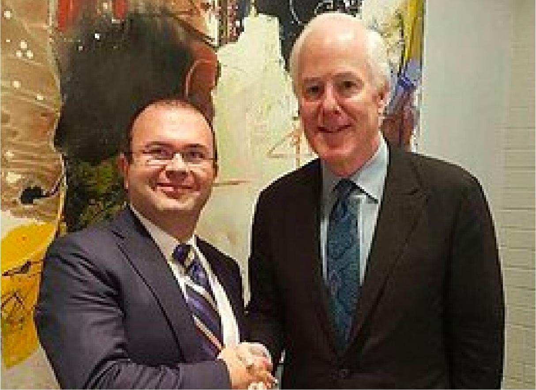 US Senator John Cornyn with David P Ellent, MD
