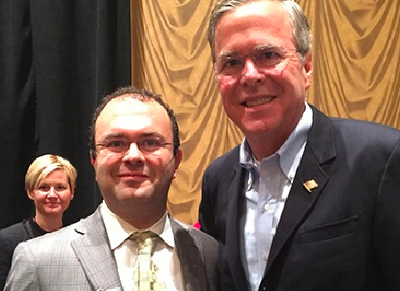Governor of Florida Jeb Bush with David P Ellent, MD