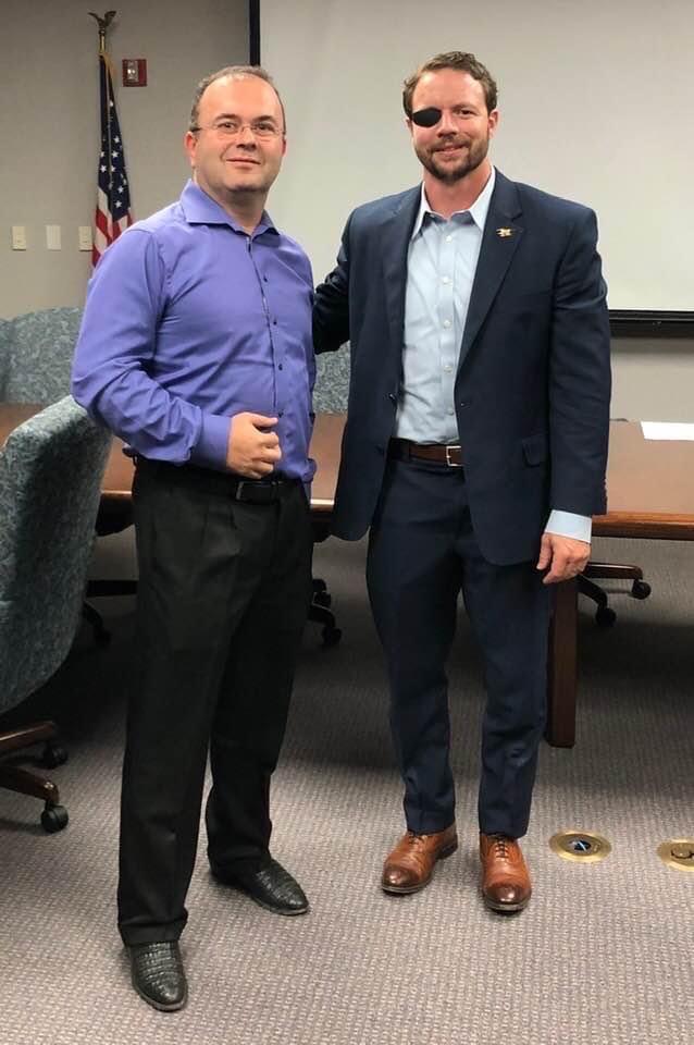 David P. Ellent, MD & Congressman Dan Crenshaw